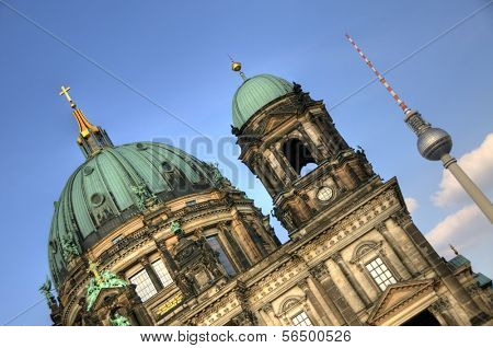 Exterior of the Berlin Cathedral in Berlin, Germany