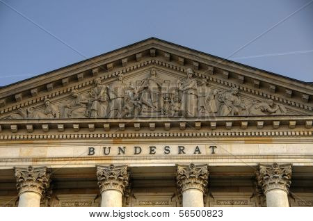 Exterior of the German Bundesrat in Berlin, Germany