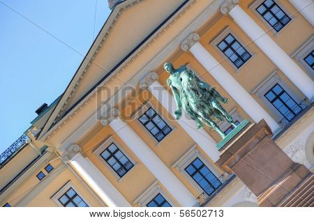 Exterior of the Royal Palace in Oslo, Norway