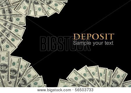 Deposit background concept and place for the text