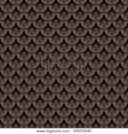 Art deco vector geometric pattern in brown color