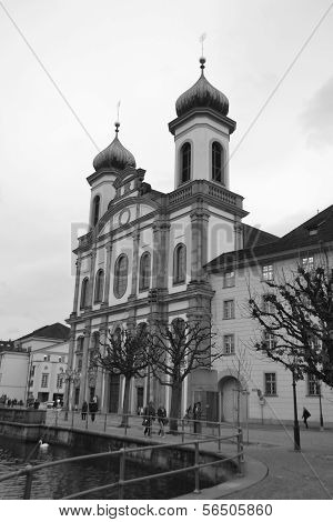 The Jesuit Church In Lucerne