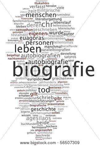 Word cloud -  biography