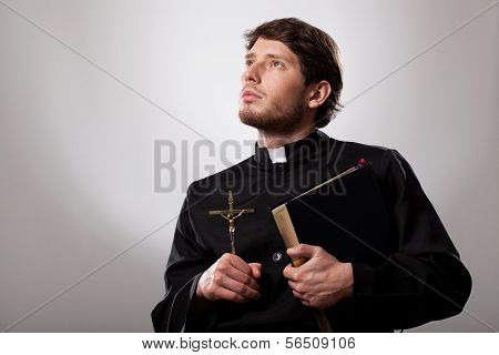 Vicar With Bible