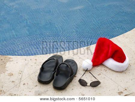 Poolside Santa Hat