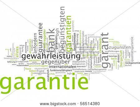 Word cloud -  guaranty