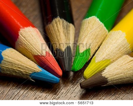 Colored Pencils, Macro
