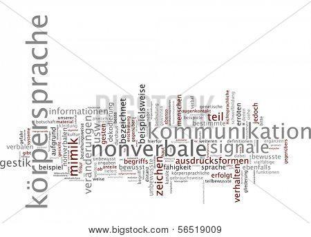 Word cloud -  body language