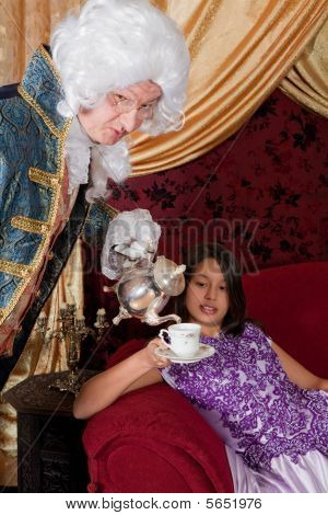 Pouring Tea For The Lady