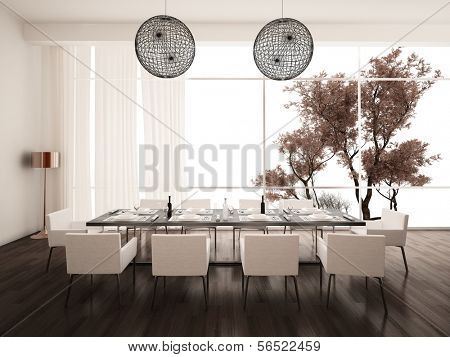 Modern Design White Dining Room | Interior Architecture
