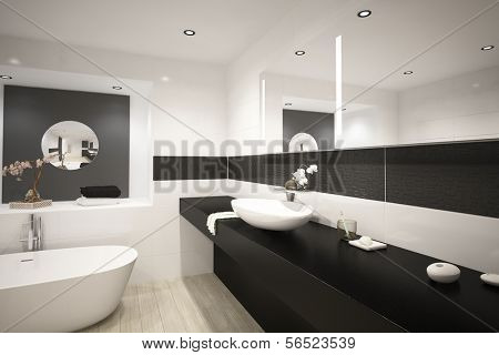 Modern design luxury bathroom interior