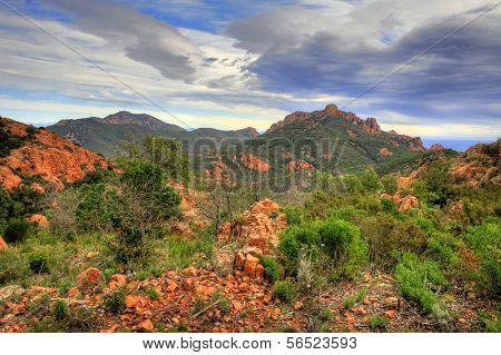 Esterel Mountain Range near Frejus on the C�´te d'Azur, France