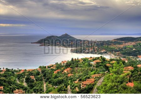 View of the C�´te d'Azur coastline near Agay in France