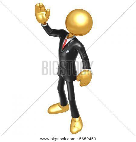 Ouro de cara de empresário
