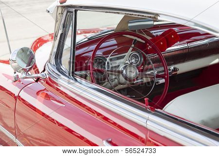 1954 Red Chevy Bel Air Interior