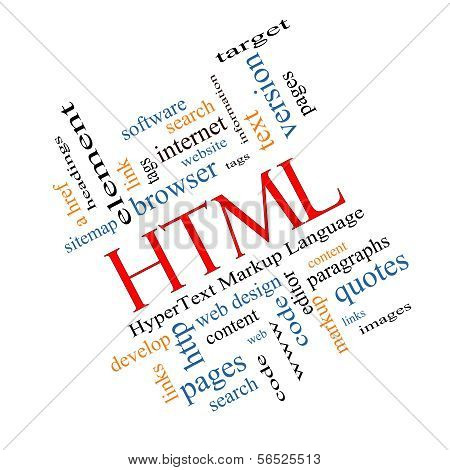 Html Word Cloud Concept Angled
