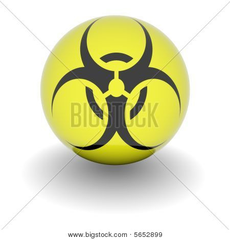 High Resolution Ball With Biohazard Symbol