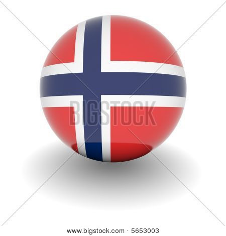 High Resolution Ball With Flag Of Norway