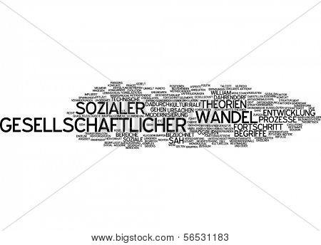 Word cloud -  social change