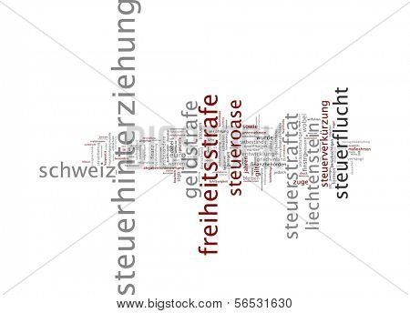 Word cloud -  tax evasion