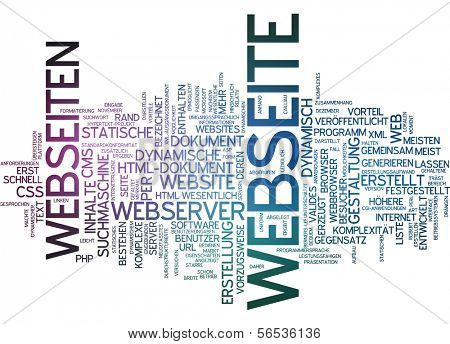 Word cloud -  website