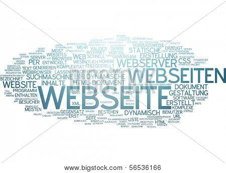Word cloud -  website