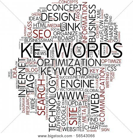 Info-text graphic - keywords