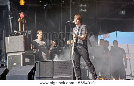 Tim Wheeler of indie / rock band Ash on stage at Hop Farm Festival
