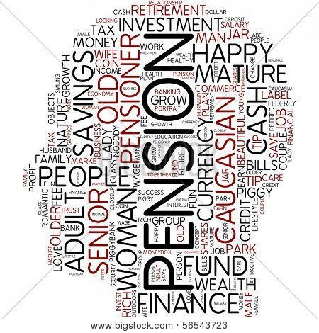 Info-text graphic - pension