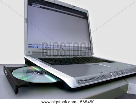 Laptop And Compact Disc