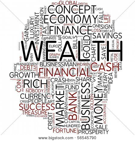 Info-text graphic - wealth