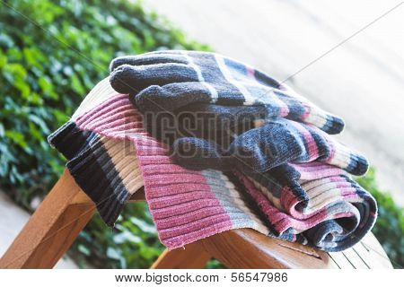 Set Of Knit Wool Accessories