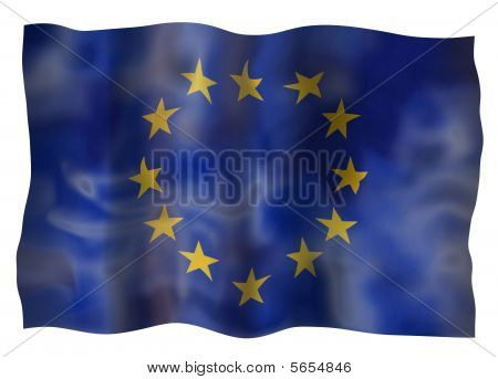 Vintage Flag Or European Union