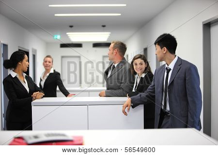Multiethnic Group Of Young Businesspeople