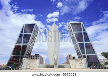 Leaning Towers Of Madrid Puerta De Europa Spain