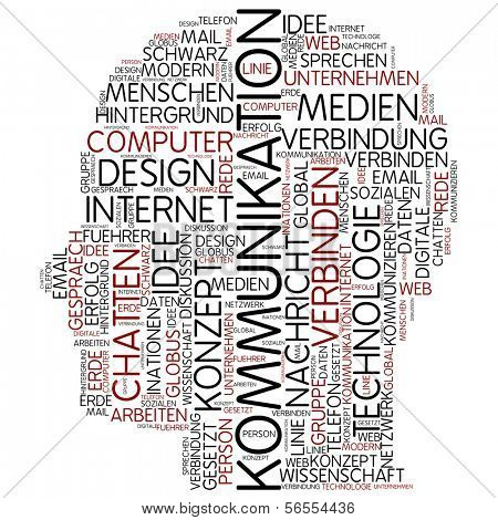 Info-text graphic - communication