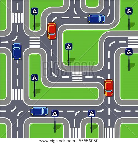 Road Seamless Pattern