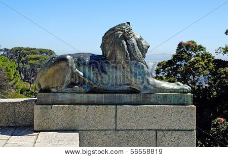 Bronze Lion,cape Town, South Africa.