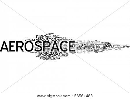 Word cloud - aerospace