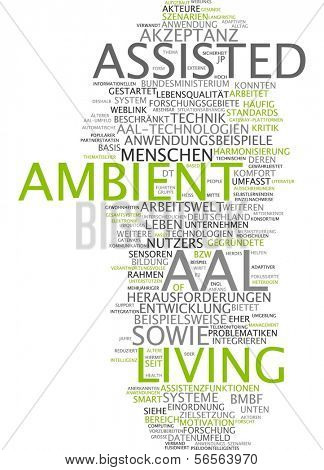 Word cloud - Assisted Ambient Living