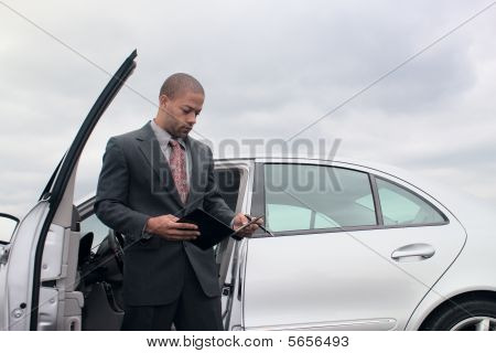 Young Businessman On Cellphone