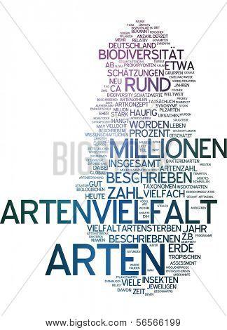 Nuvem de palavras - biodiversidade