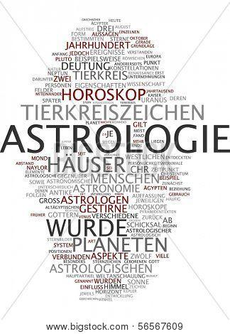 Word cloud - astrology