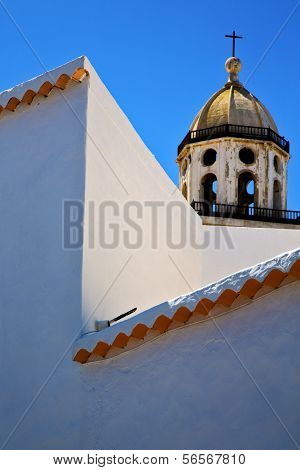 Bell Tower In Teguise Arrecife