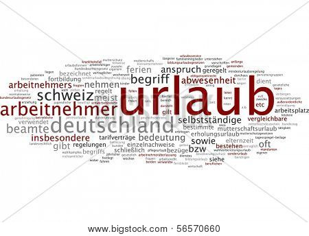 Word cloud - leave of absence