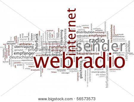 Word cloud - webradio