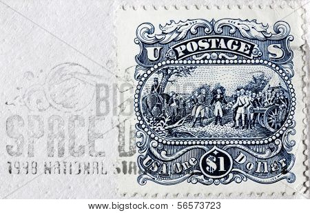 One Dollar Us Stamp