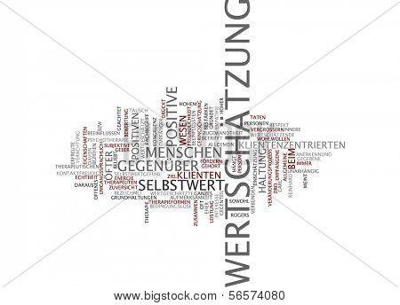 Word cloud - esteem
