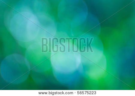 Green Bokeh Abstract