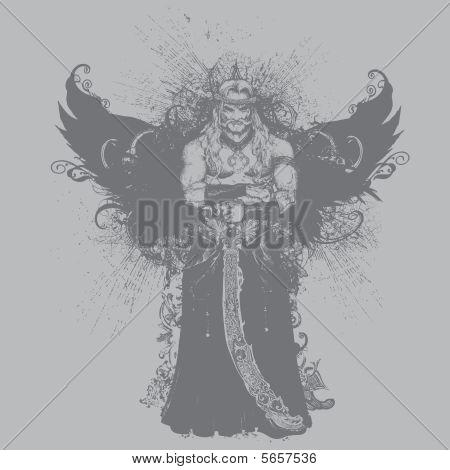 Winged Warrior illustration